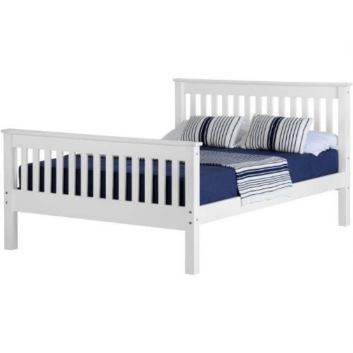 4ft Monaco H/End Bed WHITE